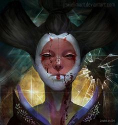 Geisha Bot: Ghost in the Shell by JowieLimArt