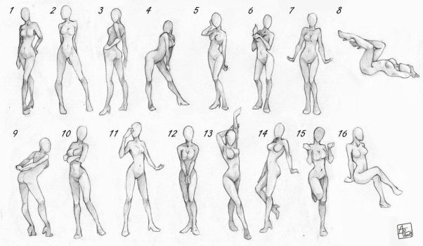 Pose References Female by artisticxhelp