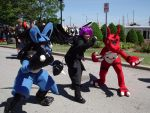 Me, Dark, and Guilmon by Lanmana