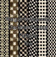 Marguerite Beausoleil Checkboard Grunge One.jpg by MargueriteBeausoleil