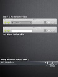 Nautilus styler toolbar skin by ypsilon2010