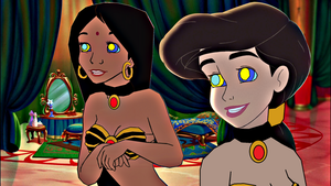 Mari and Melody as Harem Slaves by hypnotica2002
