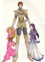 Gorlois and His Daughters by nenuiel