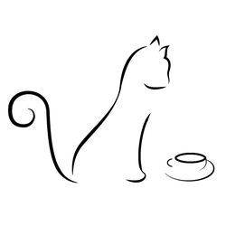 Cat Line Drawing by Mechanismatic