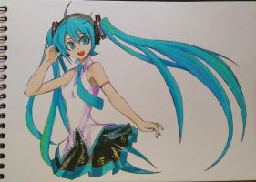 Hatsune Miku - Fanart by Moon-DragonStudio