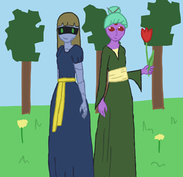 Me and My Sister in Starbound by TwilightSparklefairy