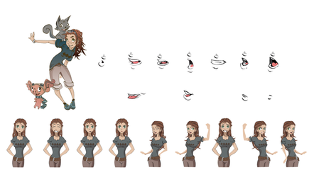 Riddle animation sheet by justincurrie