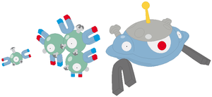 Magnemite, Magneton and Magnezone Base
