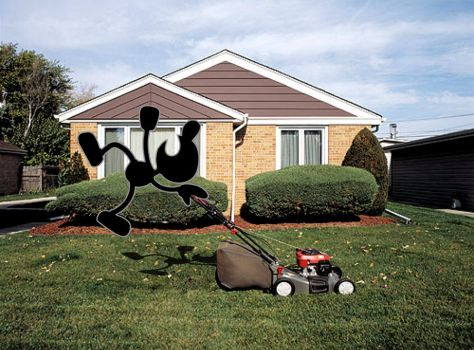 Mr. Game and Watch Mows by Psychicbard