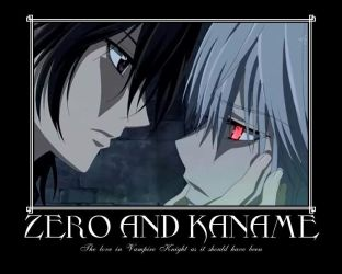 Zero and Kaname by AnakhaZero