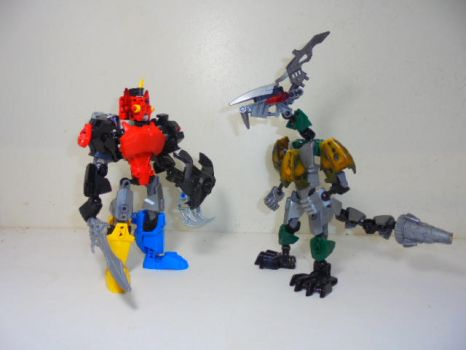 LEGO Bionicle Megazord and Dragonzord by Eli-J-Brony