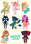 MONSTER SQUAD ADOPTS [1/8 OPEN] by barafrog