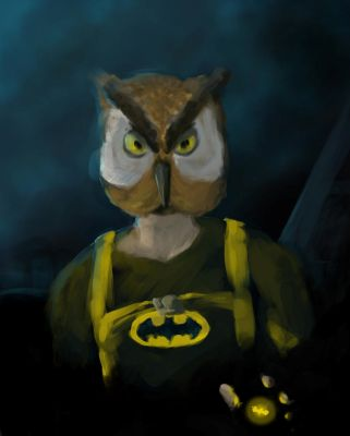 Bat Owl - Speed Painting 008 (Request) by olq-plo
