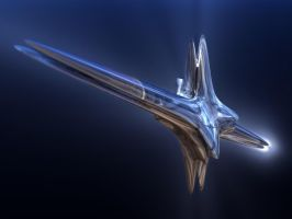 Liquid metal space ship by kronpano
