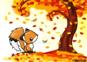 Fox in the Fall by biancaloran