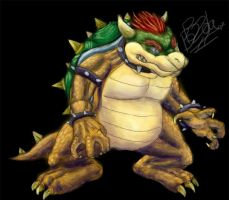 King Bowser by Pink-Shimmer