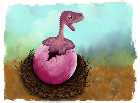 the birth of dinosaur by nurie