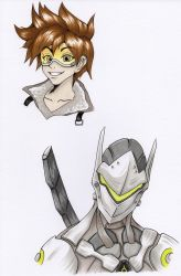 Overwatch sketches by Phendrana-ink