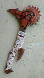 Custom Borderlands buzzaxe prop by eitanya