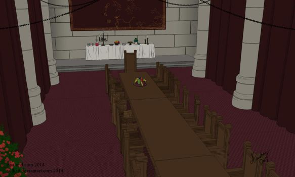 Political room background for the comic by Solkatt