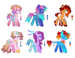 [SET PRICE] Pony Adoptables - CLOSED by Floretle