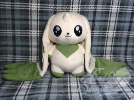 Terriermon Plush by FeatherStitched
