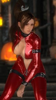 Mai Leather Catsuit Red 010 by DOA5lrScreenShots