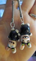 Raving Rabbids Keychain Comish by egyptianruin