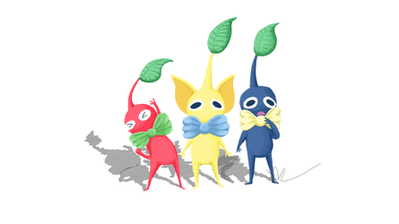Red, Yellow, and Blue Pikmin by KylaR-lapidotshipper