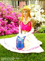 In the Palace Garden~Princess Zelda OoT Cosplay by 3456gal