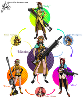 Hexafusion - Seras, Milly and Yoko by RobertFiddler