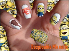 Despicable Me Nails by Ninails