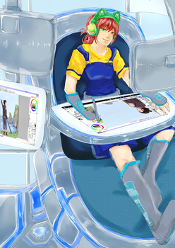 Future Workspace (?) by SquidyPendragon