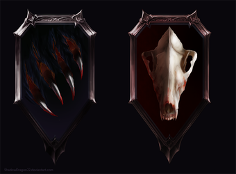 Assassin and Mercenary Emblem Commissions by ShadowDragon22