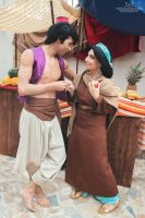 One day in the market place - Aladdin and Jasmine by FrancescaMisa