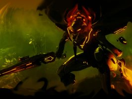 Promethean Knight Halo 4 Wallpaper for iPad by Smyf