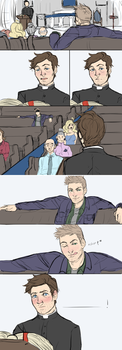 priest!cas comic thing by Vasheren
