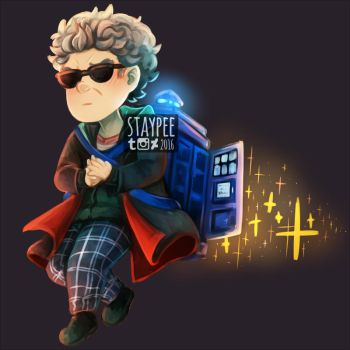 Star powered TARDIS jetpack by staypee