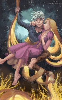 Jack frost and repunzel by Anon-The-Dreamer