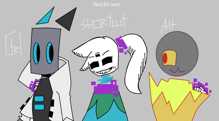 Hanging with my buds (Media Controls fan interact) by MalDrawz