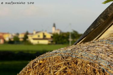 Hay ball and bell tower by mastermirko