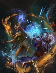 trinity mage shadow battle by macarious