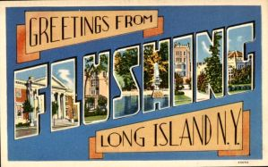 Large Letter Postcard - Flushing, NY by Yesterdays-Paper