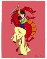 Mulan fan art, Disney princesses collection by ariartna