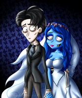 .:Corpse Bride:. Victor and Emily by XxJadeSilver