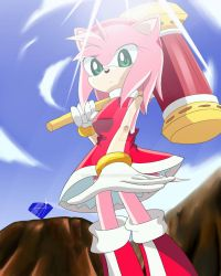 Amy Rose X by fire555angel
