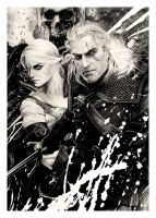 The Witcher (pencil drawing) by WildGoska