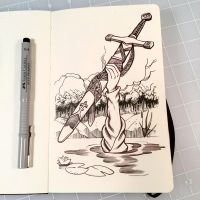 Inktober Day 6 - SWORD by D-MAC