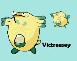 Pokemon fusion: Victreesey by StopSignOfDeath