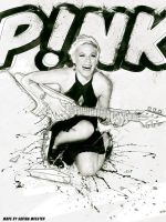 Art Pink Smashed guitar by Exquision